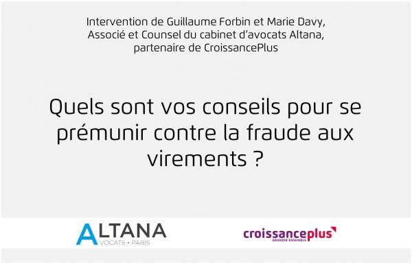 Workshop sur la Fraude aux virements avec Altana