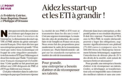 Tribune Les Echos : Aidez les start-up et les ETI à grandir !