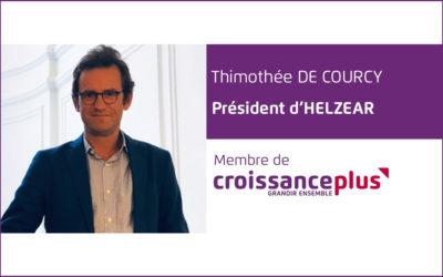 #AdherentCplus : découvrez Timothée de Courcy, Président Fondateur d'Helzear