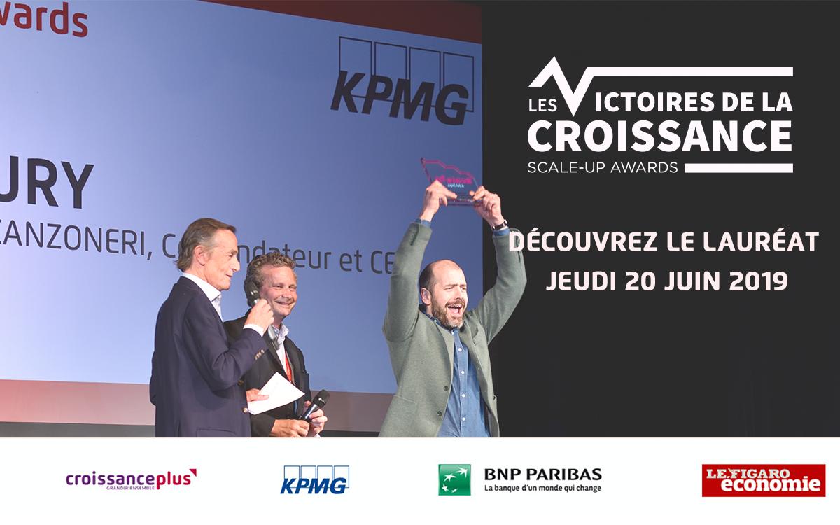 Victoires de la Croissance : qui sera élue LA Scale-Up 2019 ? Rendez-vous jeudi 20 juin pour le découvrir !