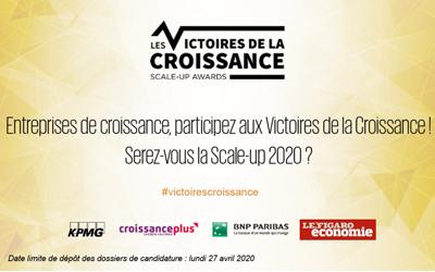 Ouverture des candidatures au prix les « Victoires de la Croissance » 2020 !