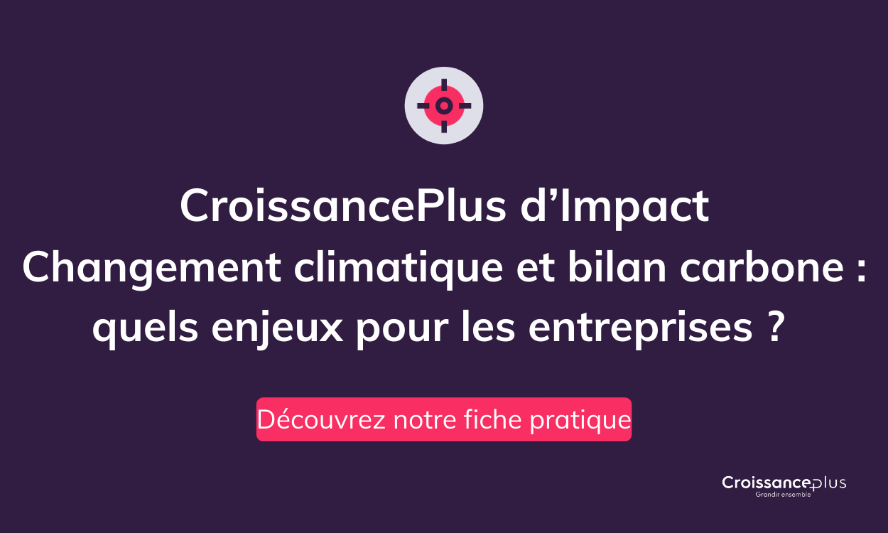 «Changement climatique et bilan carbone : quels enjeux pour les entreprises ?» Découvrez notre fiche pratique !